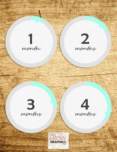 Instant Download: Monthly Baby Sticker Baby by GlowGraphicsDesign