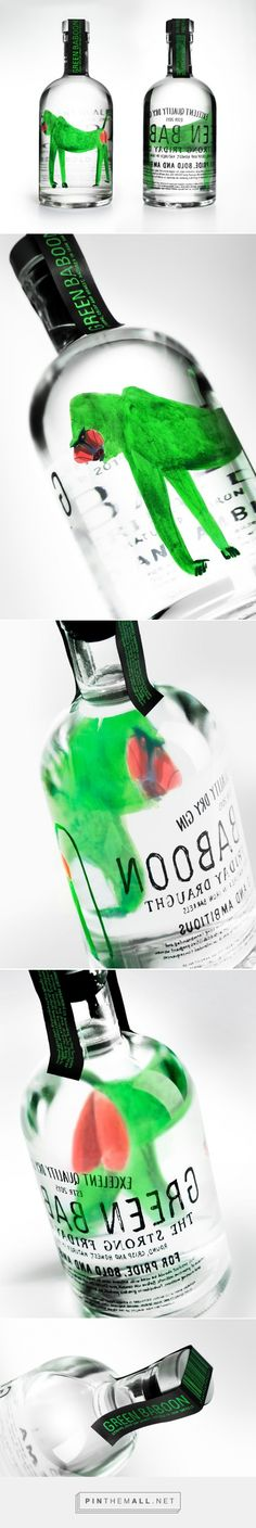 Green Baboon Dry Gin (Concept)         on          Packaging of the World - Creative Package Design Gallery - created via http://pinthemall.net
