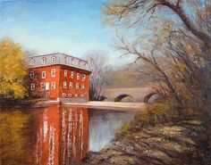 Kingston Mill - Landscape Paintings by Joe Kazimierczyk