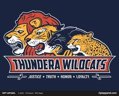 tshirtroundup:  Limited Edition Tshirt: Thundera Wildcats by fanboy30 is on sale for $10.00 from RiptApparel for 24 hours only.