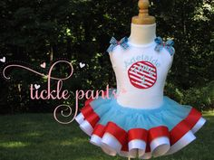Dr. Seuss Thing 1 Thing 2 Birthday Tutu Outfit by TicklePants