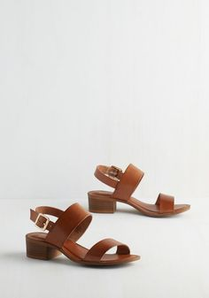 Cassiopeia Sandal in Cognac. Stargazing on your balcony is a chic experience thanks to these rich brown sandals by Seychelles! #brown #modcloth