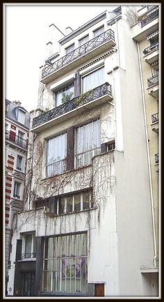 Ateliers d'artistes (1928) 5, rue du Docteur Blanche Paris 75016. Architecte : Pierre Patout