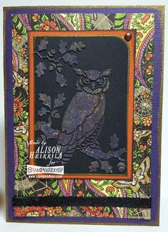 #Cre8time for gorgeous F/X stenciling on black paper! #stampendous #g45papers…