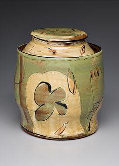Victoria Christen. Green Cookie Jar.