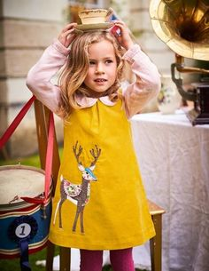 Join a teddy bear s picnic in the park with this fun animal appliqué dress.  The style makes it great for layering with a long-sleeved polo or pointelle  tee. b305902e6