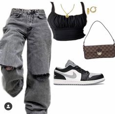 Swaggy Outfits, Baddie Outfits Casual, Swag Outfits For Girls, Trendy Summer Outfits, Cute Casual Outfits, Stylish Outfits, Tomboy Fashion, Teen Fashion Outfits, Mode Outfits