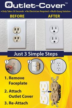 Outlet-Cover is a simple solution to unsightly, off-color or out-dated receptacles. You can do it yourself in 30 seconds or less. Home Improvement Projects, Home Projects, Home Renovation, Home Remodeling, Home Fix, Diy Home Repair, Up House, Tiny House, Home Upgrades