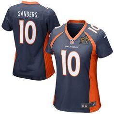 Women's Denver Broncos Emmanuel Sanders Nike Navy Super Bowl 50 Game Jersey