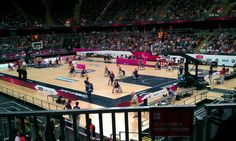 London 2012  Paralympic Wheelchair basketball game.  Canada vs GB