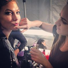 Twitter / karliekloss: Final touches, almost time ...