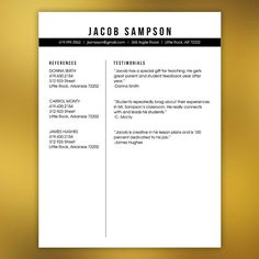 Indesign Resume Templates Masculine Resume Template Teachers Or Any Profession  4 Piece