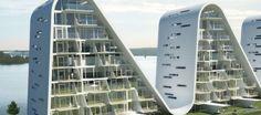 Resultado de imagem para the wave dinamarca arquitetura