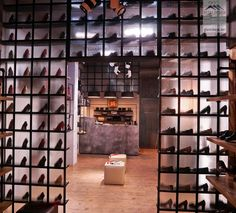 shoes flagship store in Bucharest by Glmashops Shoe Store Design, Shoe Shop, Bucharest, Visual Merchandising, Showroom, Shopping, Shoes, Home Decor, Zapatos