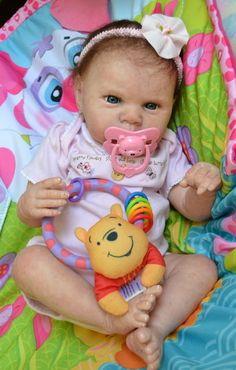 OOAK Reborn baby girl with 3d skin Miranda art doll artist newborn