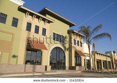 stock photo : Strip Mall Under Construction