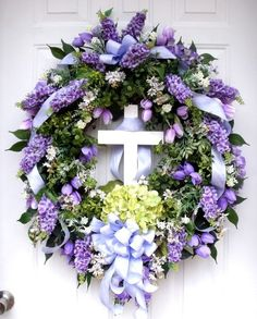 Sharing an Easter wreath