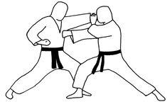 Te-Nagashi-Uke + Oie-Zuki contre Oie-Zuki Kata Shotokan, Karate Do, Martial Arts, Combat Sport, Martial Art