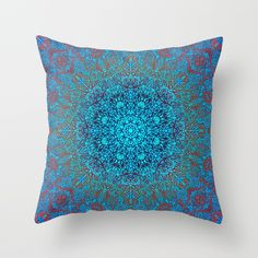 SOLD Mehndi Ethnic Style G343 Throw Pillow! https://society6.com/product/mehndi-ethnic-style-g348_pillow#25=193&18=126 #Society6 #Mehndi #Ethnic #red #Throw #Pillow #home #homedecor #patter #floral #textile #star #blue #mandala