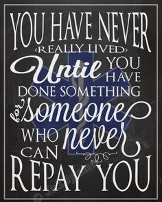 """EMT EMS Ambulance INSTANT DOWNLOAD Printable Wall Art Decor Thank You Gift - This is one of my favorite quotes: """"You have never really lived until you have done something for someone who can never repay you."""" Doesn't it just make you tear up?! Reminds me of so many people! It's the perfect gift for emergency medical service people who have taken care of you or someone you love, decor for an office or desk, EMT friends, graduation, retirement, etc."""