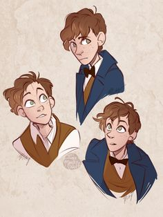 Newt Scamander - not gay if it's on the ☾ Tumblr