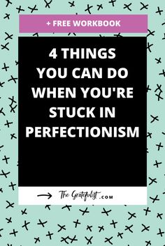 I'm not alone in my struggle with perfectionism. I know many of you face the same struggle every day. But there are things you can do when you're stuck in perfectionism and you feel this urge to perfect, perform, and please. Click through to read all about these four strategies. Plus, there's a free perfectionism-busting workbook!