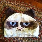 Ravelry: Grumpy Hat - Hat with Tardar Sauce, the Grumpy Cat's face pattern by Corina Cook