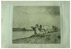 Lorennzo Delleani Pittore ( Pollone (Vercelli) 1840 - Torino 1908) Titolo Alaggio Sul Tanaro