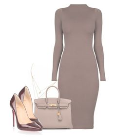 """""""Strange combination, but i kind of like it."""" by julianaimp ❤ liked on Polyvore featuring Liz Law, Hermès and Christian Louboutin"""