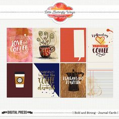 Bold and Strong {journal cards} by Little Butterfly Wings at The Lilypad