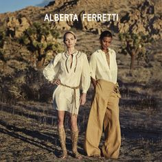 Amber Valletta and Liya Kebede star in Alberta Ferretti spring-summer 2016 campaign