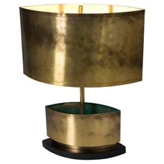 Check out this item at One Kings Lane! Brass Double-Crescent Lamp