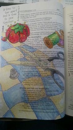 Bible journaling Ecclesiastes 3:7