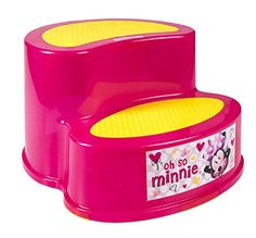 #topbrand Our #Minnie Mouse 2-Step Stool is made out of durable and sturdy plastic that can withstand a large #amount of weight and stress. Unlike other stools wh...