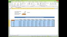 Table de données sous Excel