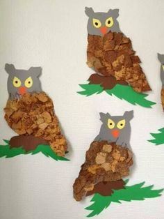 Animal Crafts For Kids, Fall Crafts For Kids, Craft Projects For Kids, Toddler Crafts, Bird Crafts, Letter A Crafts, Xmas Crafts, Autumn Activities, Creative Activities