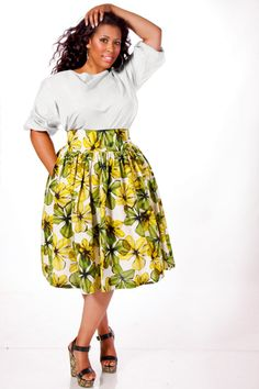 be00d8d9e6d9 JIBRI Plus Size High Waist Flare Skirt Costa by jibrionline