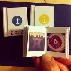 #tinybooks crafted into mini memory #albums by @8mm_ideas