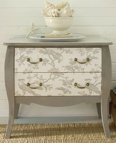 DIY Wallpapered and Decoupage Dressers