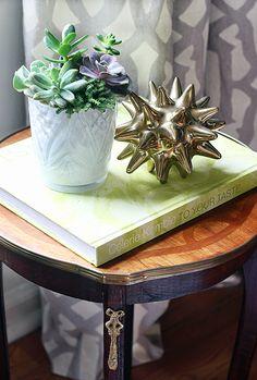Home Trends: Succulents + Gold Décor.