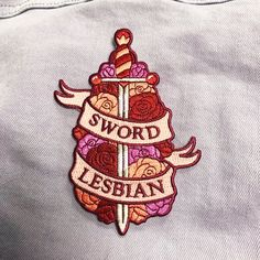 Sword Lesbian Embroidered Patch