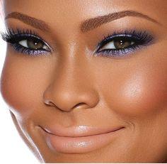 Makeup looks for black women brown skin simple 65 trendy ideas Des sourcils naturels, pleins Flawless Makeup, Gorgeous Makeup, Beauty Makeup, Makeup 101, Makeup Products, Pretty Makeup, 50s Makeup, Dead Gorgeous, Makeup Bags