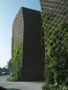 ♂ Green living wall vertical garden Ex Ducati / Mario Cucinella Architects #green #architecture #garden #sustainable