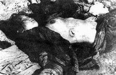 Japanese war crimes - China A young woman lies dead after being raped and bayonetted by Japanese soldiers. a not untypical end to the lives to hundreds of thousands of Asian women at the hands of Imperial Japan. Nanjing, World History, World War Ii, Nanking Massacre, Post Mortem Photography, Imperial Army, Historical Images, The Victim, Wwii