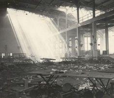 Damaged building at Pearl Harbor, Hickam Field