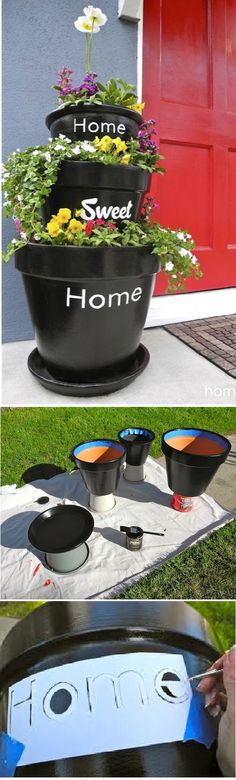 Stacked Planters For Your Home Sweet Home