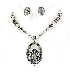 Rhinestone Necklace and Earring set just $24.95 available @Blue Bumble Bee Boutique & Gifts...we ship 205-426-9330