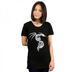 Black Silver Dragon T-Shit/Tee Hand Printed in Melbourne. Silver Dragon, Black Silver, Melbourne, All Things, V Neck, T Shirts For Women, Printed, Tees, Unique