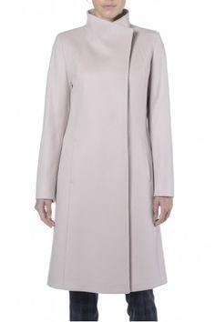 Cappotto lungo cipria. Cappotto donna in cashmere. 100% cashmere.