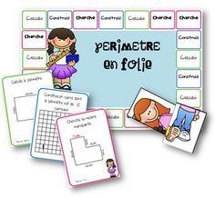 Un jeu pour travailler les périmètres Grade 6 Math, Math 5, Fun Math, Math Games, Math Activities, Teaching Measurement, Teaching Math, Daily 3 Math, Montessori